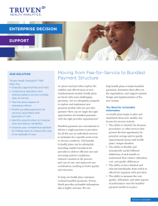 Moving from Fee-for-Service to Bundled Payment Structure