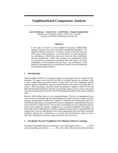 Neighbourhood Components Analysis