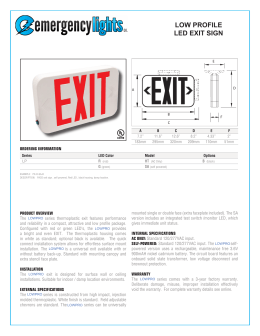 low profile led exit sign