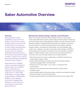 Saber Automotive Overview