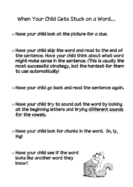 When Your Child Gets Stuck on a Word…