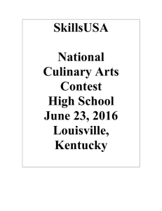 SkillsUSA National Culinary Arts Contest High School June 23