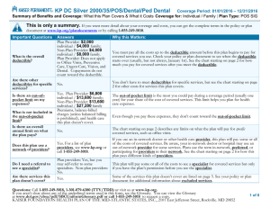 KP DC Silver 2000/35/POS/Dental/Ped Dental Coverage Period: 01