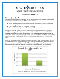 Green Jobs and CTE
