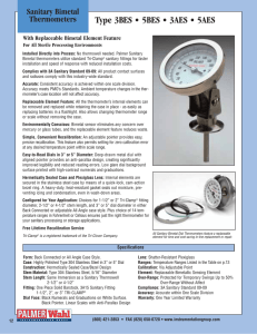 Bi Metal Thermometers Catalog