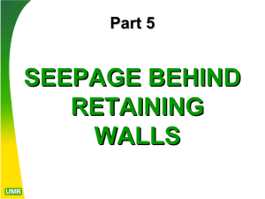 SEEPAGE BEHIND RETAINING WALLS