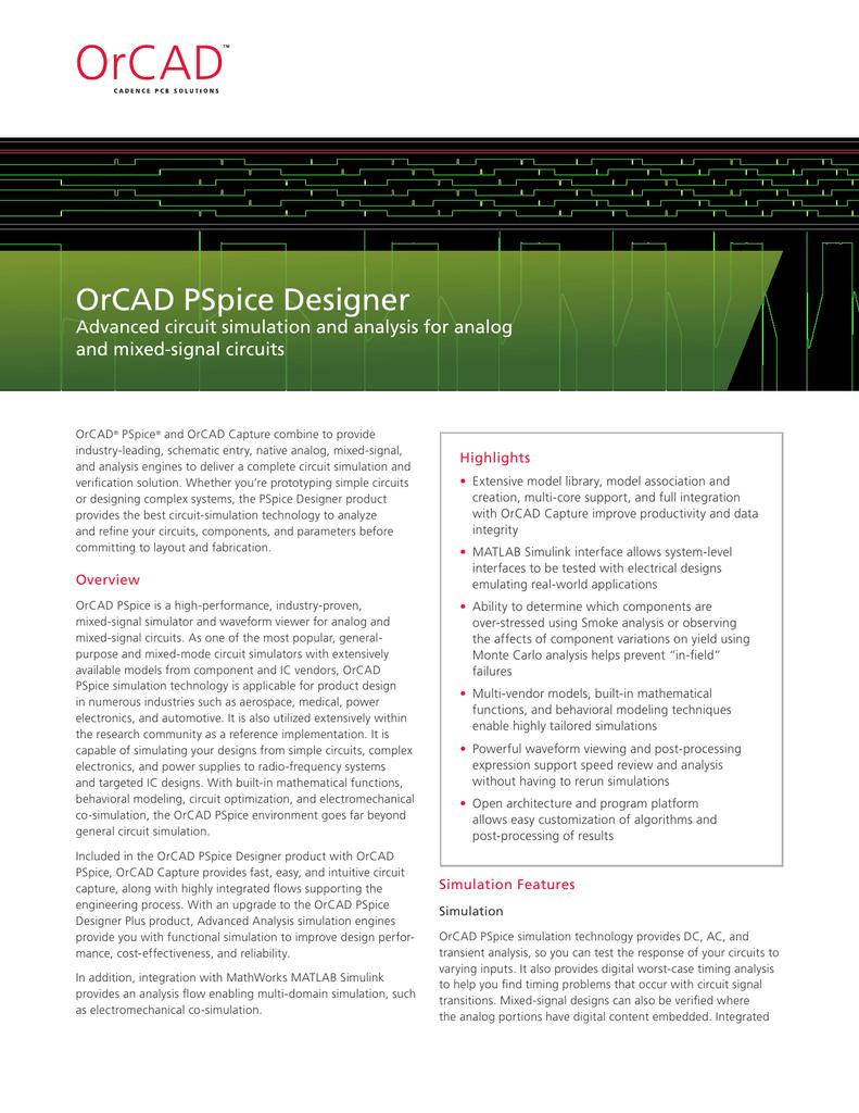 OrCAD PSpice Designer