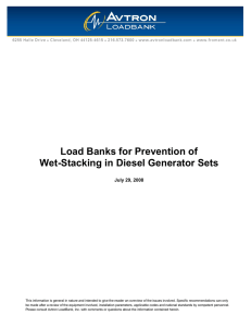 Load Banks for Prevention of Wet-Stacking in Diesel