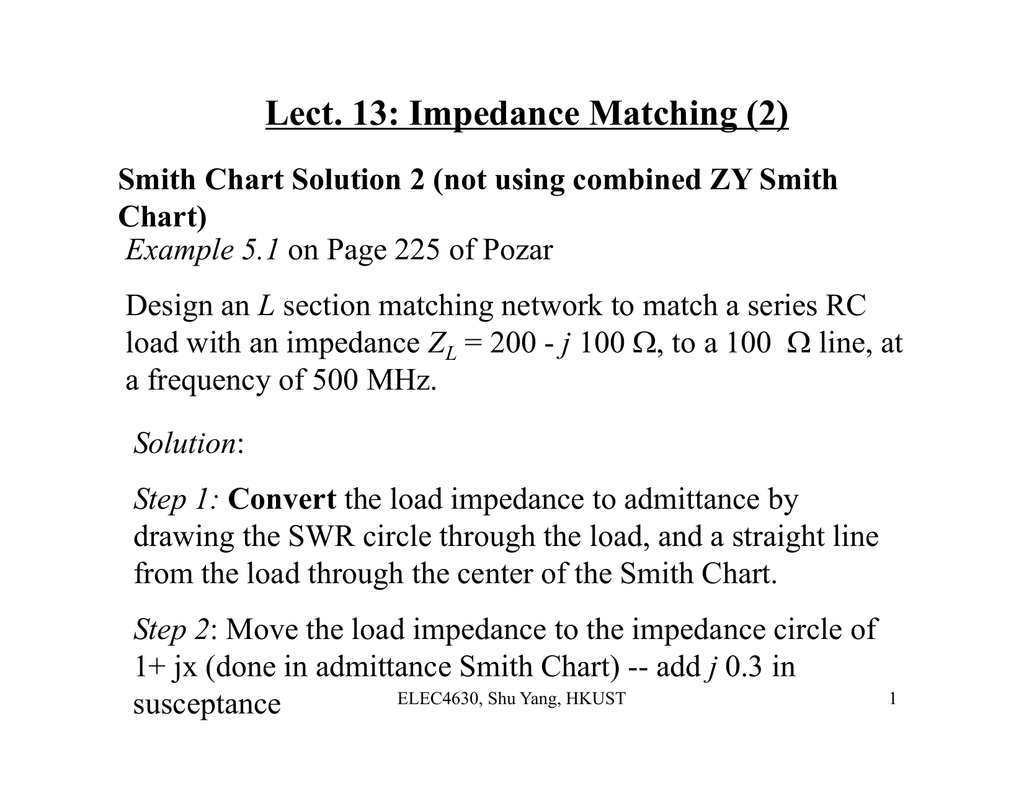 Lect  13: Impedance Matching (2)