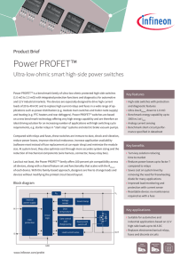 Power PROFET™ Product Brief