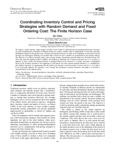 Coordinating Inventory Control and Pricing Strategies with Random