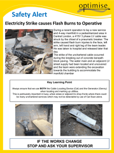 Electricity strike causes flash burns