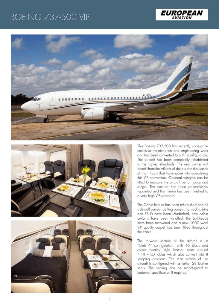 boeing 737-500 vip - European Aviation