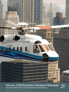 Sikorsky S‑92® Executive Transport Helicopter