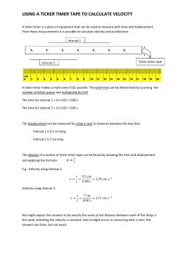 ticker tape machine physics