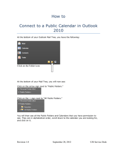 How to Connect to a Public Calendar in Outlook 2010