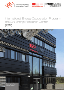 IECP Brochure (pdf: 6672 kb) - E.ON Energy Research Center