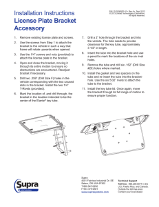 License Plate Bracket Mounting Instructions