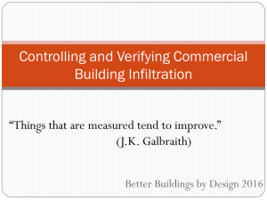 Air Leakage and Building Tightness Verification in Commercial