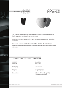 MASKVW - MASKVBL V-BRACKET TECHNICAL SPECIFICATIONS