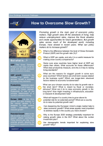How to Overcome Slow Growth?