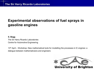 Experimental observations of fuel sprays in gasoline engines