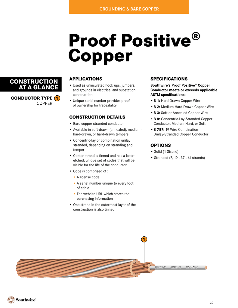Proof Positive® Copper