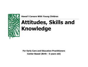Attitudes, Skills and Knowledge
