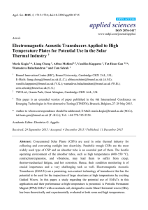 Electromagnetic Acoustic Transducers Applied to High Temperature