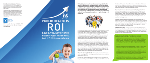 Public Health is ROI: Saves Lives, Saves Money