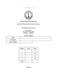 Electrical Engi King Fahd University Name ID Number Section