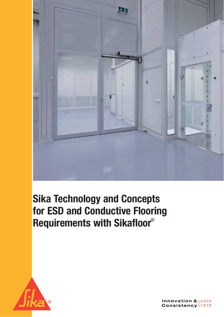 Sika Technology and Concepts for ESD and Conductive Flooring
