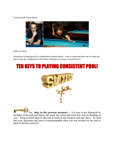 ten keys to playing consistent pool!