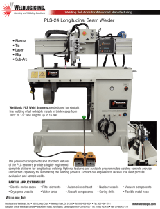 PLS-24 Longitudinal Seam Welder