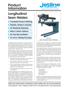 Longitudinal Seam Welder Brochure