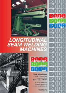 longitudinal seam welding machines