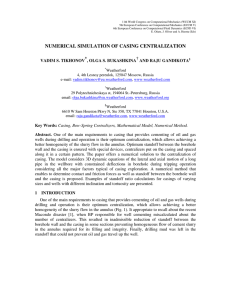 numerical simulation of casing centralization