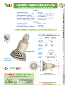 LED PAR30 CFL Replacement Lamp, UL Listed