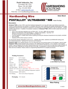 Ultraband NM - Hardbanding Solutions