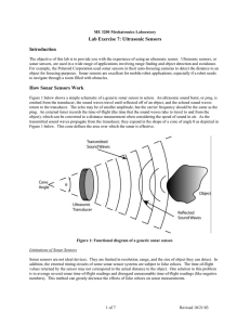 Lab Exercise 7: Ultrasonic Sensors Introduction How Sonar Sensors