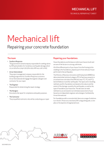 Mechanical lift - Southern Response