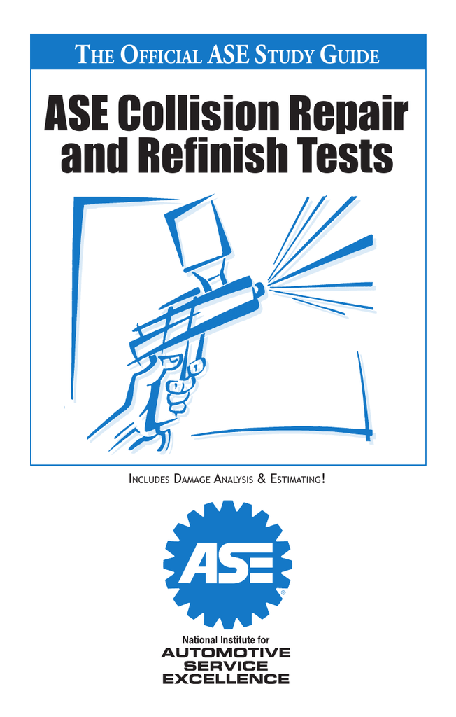 ase collision repair and refinish tests rh studylib net