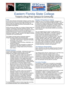 Drug Free Campus Guidelines - Eastern Florida State College