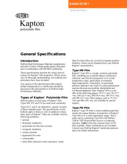 in struc tion sheet kapton® general properties data