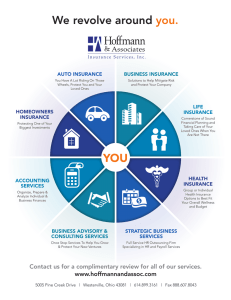 We revolve around you. YOU - Hoffmann and Associates Insurance
