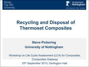 Recycling and Disposal of Thermoset Composites