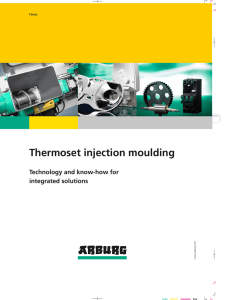 Thermoset injection moulding