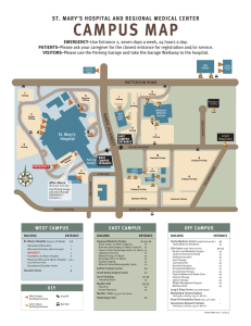 Campus Map 010915 - St. Mary`s Medical Center