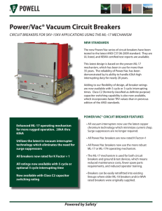 Power/Vac® Vacuum Circuit Breakers