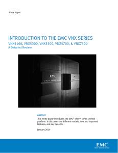 Introduction to the EMC VNX Series
